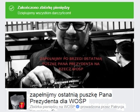 """oigoi79tno8hlihbjn - SZOOK! """"Ostatnia puszka Adamowicza dla WOŚP"""" na FB zamiast 1000 zł zebrano niemal 16 milionów zł!!! REKORD!"""