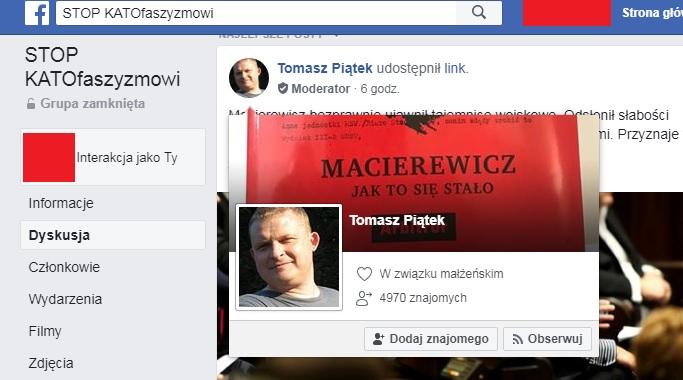 """dthydxerhfc - Słynny Tomasz Piątek moderatorem w antykatolickiej grupie """"Stop KATOfaszyzmowi""""?"""