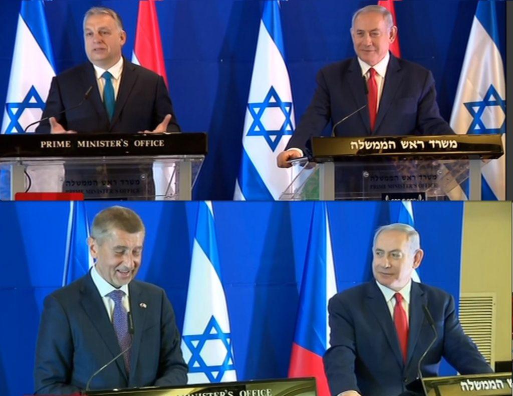 ergsgxd 1024x792 - Premierzy V4 polecieli do Izraela, na pytania o Polskę odpowiadali z uśmiechem. Netanhaju w dobrym humorze