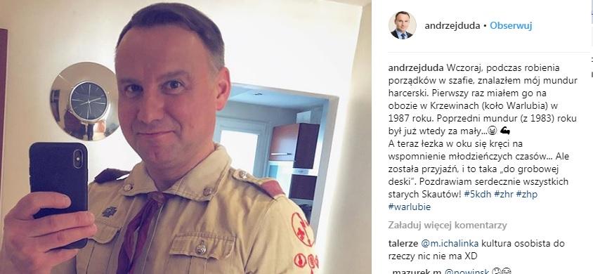 """andrzejduda - Selfie Andrzeja Dudy robi furorę w sieci! """"Łezka się w oku kręci"""" Zobacz całość!"""